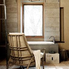 Contemporary Bathroom by McGuire Furniture Company