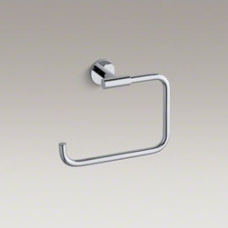 KOHLER - KOHLER Stillness(R) towel ring - Bring clean, quiet lines and streamlined style to your bathroom with Stillness accessories. This solid-brass ring mounts to the wall, keeping your hand towel within easy reach and allowing you to coordinate your bathroom decor down to the smallest detail.