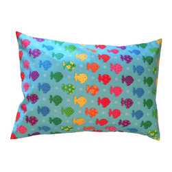 """A Little Pillow Company - A Little Pillow Company: Toddler Pillowcase (Envelope Style) - 14"""" x 19"""", Fish - Wrap """"A Little Pillow Company"""" pillow in only the best!  This envelope-style toddler pillowcase is Made in the USA from a 100% soft cotton fabric."""