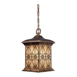 Mission Hollow 1-light Hazelnut Bronze Outdoor Pendant Light