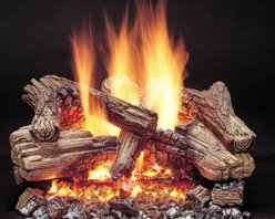 Majestic Duzy 3 Vented Gas Log Set - Whether cuddling up with someone close or enjoying a quiet fireside book by yourself the Majestic Duzy 3 Vented Gas Log Set lets you set the proper mood and environment quickly without any fuss or muss. As charming as they are traditional fireplaces can be a hassle to use becoming little more than a neglected room accent. Toting wood regular cleaning and constant tending can take away from the enjoyment of a cozy fire. But this gas log set allows you to transform that rarely used chimney into a cherished part of your home's activities. The included lava rocks and rock wool glowing embers add a unique touch to the real-wood-looking flame. And the Natural Flame stainless steel burner system produces up to 17 000 BTUs of heat while costing up to 35 percent less than standard vented log systems. And for added safety and an assured longer life all components - including the burner grate and control - are factory assembled and leak tested. Note: It is recommended that you use a professional installer to ensure the safety of the exhaust system. A licensed contractor should be contacted for installation of all products involving gas lines. About MajesticFor over 50 years Majestic has crafted a name synonymous with quality wood and gas fireplaces for the home. With a vast array of products and styles including wood electric modern and traditional Majestic has something for every taste and decor. Majestic products are built to last offering a quality construction and innovative design structure that has made them a premier choice for homes across North America and beyond.