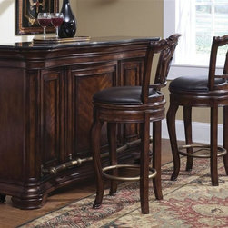 Pulaski - Accents 3-Piece Bar Set - Includes one bar cabinet and two barstools