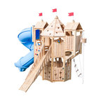 CedarWorks - CedarWorks Frolic 9 Swingset - Whimsical hideout. The Frolic 9 playset from CedarWorks gives your kids a magical place to make all their dreams come true. With multiple levels of play, doors, floors, slides and ramps they will never run out of ways to expand their imagination.