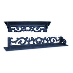 Trade Winds - New Trade Winds 3-Foot Shelf Blue Painted - Product Details