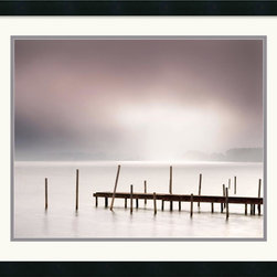 Amanti Art - Lake Walk II Framed Print by Jonathan Chritchley - Photographer Jonathan Chritchley uses the play of light and shadow in this fine art print 'Lake Walk II' to bestow a magical quality to this coastal setting.