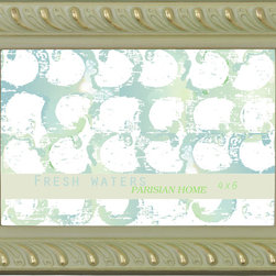 Lightaccents - Home Accents Wooden Picture Frame / Photo Frame 4 x 6 Inches (Gold and Green) - Part of the Fresh Waters Photo Frame Collection
