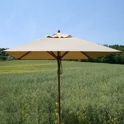 Bambrella Levante 7 ft. X 10 ft. Rectangular Bamboo Market Umbrella