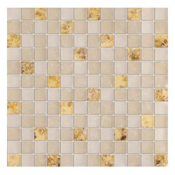 Serene Mother of Pearl Glossy & Matt Square Pattern Glass Mosaic Tiles, Sheet - 1 in. x 1 in. Serene Mother of Pearl Mesh-Mounted Square Pattern Glass Mosaic Tile Seashell Deco Inserts is a great way to enhance your decor with a traditional aesthetic touch. This Glossy & Matt Mosaic Tile is constructed from durable, impervious Glass material, comes in a smooth, unglazed finish and is suitable for installation on floors, walls and countertops in commercial and residential spaces such as bathrooms and kitchens.