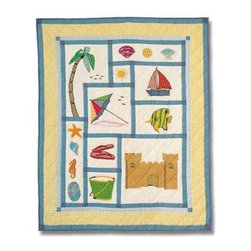 Patch Magic - Summer Fun Crib Quilt - 36 in. W x 46 in. L. Handmade, hand quilted. 100% CottonMachine washable, but for best care hand wash in cold water. Do not machine dry. Do not dry clean. Line or flat dry only.
