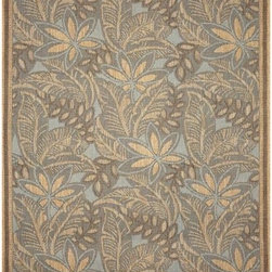 Turquoise Decker Design Outdoor Rug - The Turquoise Decker design of outdoor rug is available in several sizes and square and runner styles.