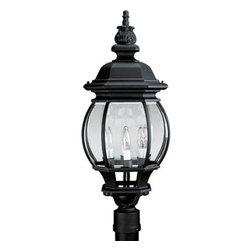 Progress Lighting - Progress Lighting P5401-31 Onion Lantern 4-Lt. Post Mount Lantern - Four light post lantern with clear beveled glass