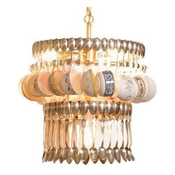 EuroLux Home - Silver Spoon Display Chandelier Artisan - Product Details