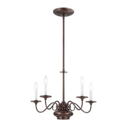 Savoy House Lighting - Savoy House Lighting 1-5450-5-28 Bancroft Transitional 5-Light Chandelier - The Bancroft collection, from Savoy House, takes classic Americana styling and updates it with a fresh twist. The chandeliers feature an independently controlled MR16 downlight to highlight your tabletop, and the Oiled Burnished Bronze finish adds a glow