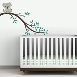 Littlelion Studio Koala Branch II Wall Decal - Littlelion Studio Koala Branch II Wall Decal