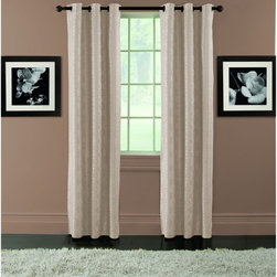 Arlee Home Fashions - Arlee Home Fashions Arista Diamond Jacquard Blackout Grommet Panel Pair - 29-414 - Shop for Curtains and Drapes from Hayneedle.com! With their beautiful and subtle pattern the Arlee Home Fashions Arista Diamond Jacquard Blackout Grommet Panel Pair creates a luxurious a sophisticated atmosphere. With its face crafted from 100% polyester and the back made from 70% acrylic ester 25% titanium (IV) and 5% rayon these curtains are machine washable for your convenience. Designed for practicality as well as style these curtains lower your home heating and cooling costs by up to 25% and also blocks out 99% of the light and up to 40% more noise than regular curtains. The grommets on these curtains make them easy to hang on any decorative curtain rod. Beautiful and sophisticated these curtains are the perfect way to finish any room. Additional Features Pattern engineered so every panel matches perfectly Lowers home heating and cooling costs Lowers costs by up to 25% Blocks out 99% of outside light Blocks up to 40% more noise About Arlee Home FashionsArlee Home Fashions Inc. manufactures and markets household textiles like decorative pillows chair pads floor cushions curtains table linens and pet beds. The company was incorporated in 1976 and is based in New York New York.