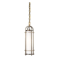 Hudson Valley - Hudson Valley 8531-HB 1 Light PendantPortland Collection - We've adapted the classic coach lamp to create our Portland collection.  Opal glass evenly diffuses glowing white light from within the lamps' clean-lined, cylindrical cages.  Hook-and-eye hangers provide the authentic details that make our fixtures stand