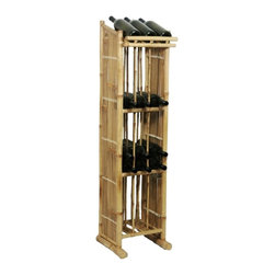 "Bamboo54 - Bamboo Wine Tower - Bamboo free standing wine rack... need we say anything more? Imagine a rack full of your favorite wines.....heaven! Measures 2"" H x 12.5"" W x 13.5"" D. No assembly required. Will fit regular bottles but not magnums."