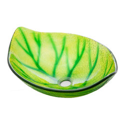 Green Leaf Shaped Vessel Sink - Green Leaf Shaped Vessel Sink