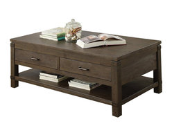Riverside Furniture - Riverside Furniture Promenade Rectangular Cocktail Table in Warm Cocoa - Riverside Furniture - Coffee Tables - 84502 - Riverside's products are designed and constructed for use in the home and are generally not intended for rental commercial institutional or other applications not considered to be household usage.