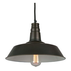 Bromi Design - Bromi Design Calvin 1-Light Industrial Pendant - Add a little industrial cool to your interiors with this hardworking pendant and pair it with a filament bulb for an authentic touch. It has enough presence to hang out on its own, but looks especially great when lined up in multiples.