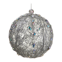 Silk Plants Direct - Silk Plants Direct Rhinestone Ball Ornament (Pack of 12) - Silver - Pack of 12. Silk Plants Direct specializes in manufacturing, design and supply of the most life-like, premium quality artificial plants, trees, flowers, arrangements, topiaries and containers for home, office and commercial use. Our Rhinestone Ball Ornament includes the following: