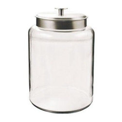 Anchor Hocking - 2.5gal Montana Jar w Alum Cvr - 2.5 Gallon Montana Jar with Brushed Aluminum Metal Cover, Clear.