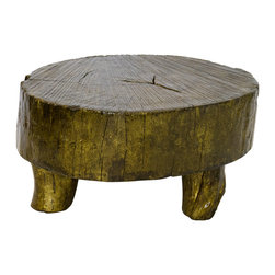 Helmer Rustic Gold Coffee Table - Our coffee tables are built of beautiful elm wood reclaimed from buildings and furniture pieces that graced the eclectic Qing dynasty. Each piece is meticulously hand built and finished by time-honored craftsman utilizing over 120 different processes. 200 year old hand carvings are intricately placed in some, while the simplistic lines and natural wear age make others unique. Perfect in the entry or next to the sofa, no two pieces are alike.