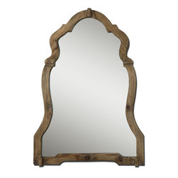 "Uttermost - Agustin Light Walnut Mirror - This Ornate Mirror Features A Light, Walnut Stained Wood Frame With Burnished Details.; Collection: Agustin; Designer: Grace Feyock; Material: Pb, Mirror; Finish: Light Walnut Stained Wood With Burnished Details.; Mirror: 0.187""D x 26.75""W x 37.5""H; Dimensions: 2""D x 30""W x 43""H; Uttermost's Mirrors Combine Premium Quality Materials With Unique High-style Design.; With The Advanced Product Engineering And Packaging Reinforcement, Uttermost Maintains Some Of The Lowest Damage Rates In The Industry. Each Product Is Designed, Manufacturered And Packaged With Shipping In Mind."