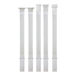 uDecor - FC-6008S Flat Column Set - Column setsare a great way to take the guessing out of your design concept. We've taken elements that work beautifully together, and offered them as a package. In this package, the column and base always stay the same; all you need to do is choose the capital that looks best to you. Choosing a quantity of one (1) means that you will recieve three pieces - the base, column, and capital. So if you're placing two columns on either side of an entryway, you'll want a quantity of two (2) sets.