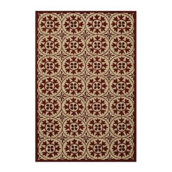 Momeni VR-30 Veranda Indoor/Outdoor Area Rug - The stunning traditional design of the Momeni VR-30 Veranda Indoor/Outdoor Area Rug is just what you need to tie that room together in style. Hand-hooked from 100% polypropylene, this area rug even comes in a number of sizes to fit snugly in your home.About Momeni RugsMomeni, a family name, a mark of quality, and an expert source of ideas for making your home come alive with true timeless beauty, was established half a century ago, when Ali A. (Haji) Momeni started a family business bringing exquisite Persian carpets to the United States. Though styles have come and gone, behind them all is the fundamental principle that Momeni rugs are maked to touch our senses. From concept through production, a family member is there making sure that the highest standards are being met. This Momeni standard of quality, elegance, and sophistication has been recognized time and time again with America's Magnificent Carpet Award.
