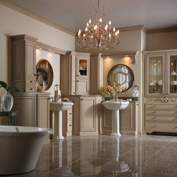 Painted Bathroom Cabinets - Decora Cabinetry -
