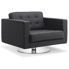 Modern Chairs Chelsea Dark Grey Premium Easy Chair (Swivel)