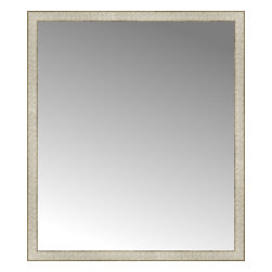 """Posters 2 Prints, LLC - 40"""" x 46"""" Libretto Antique Silver Custom Framed Mirror - 40"""" x 46"""" Custom Framed Mirror made by Posters 2 Prints. Standard glass with unrivaled selection of crafted mirror frames.  Protected with category II safety backing to keep glass fragments together should the mirror be accidentally broken.  Safe arrival guaranteed.  Made in the United States of America"""