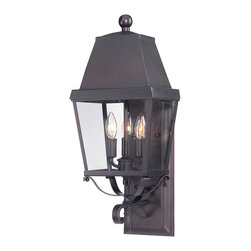 Savoy House - Savoy House 5-6300-13 Nevington Small Lantern - Savoy House?s Nevington is a line of beautiful outdoor wall lanterns finished in English bronze with open bottoms, clear glass and metal candle covers. This high-quality lantern will fit many home styles and d?cor themes.