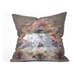 Pixilated Polar Bear Throw Pillow Cover - Modern design meets digital pixilation, and a cute polar bear too! This unique throw pillow cover will make any bedspread or furniture piece pop. The Pixilated Polar Bear Throw Pillow Cover features a double-sided print and includes a concealed zipper for easy care.