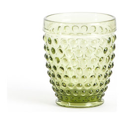 None - Hobnail Tumbler Glass (set of 6) - Hobnail design tumbler glasses for everyday entertaining. These glasses add a classic touch to any table.