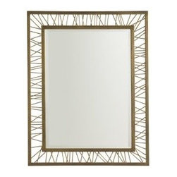 Stanley Furniture - Crestaire-Palm Canyon Rectangular Mirror - The Palm Canyon Rectangular Mirror boasts an artfully chaotic spoked framework.