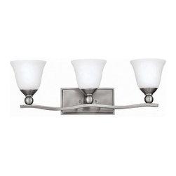 Hinkley Lighting - Hinkley Lighting 5893BN Bolla Brushed Nickel 3 Light Vanity - Hinkley Lighting 5893BN Bolla Brushed Nickel 3 Light Vanity