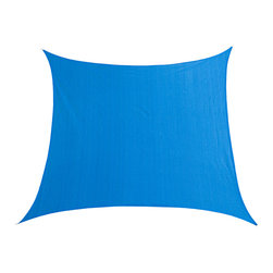 Cool Area - Cool Area Square Oversized 16 Feet 5 Inches Sun Shade Sail, Blue - Cool Area shade sail is a stylish and effective shade solution that fit most outdoor living space. You can creatively design your own little shady area in a courtyard, pool, gardens, childrens' play areas, car spaces, and even entry ways. The heavy duty Polyethylene material will keep you cool and out of the hot sun.