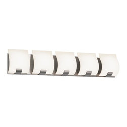 Sonneman - Sonneman 3885.13LED Aquo 5 Light LED Bathroom Wall Sconce - Satin Nickel - Finish: Satin Nickel