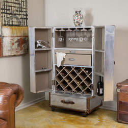 Christopher Knight Home - Christopher Knight Home Borman Steamer Roller Trunk - The Borman steamer roller trunk offers a sleek and sophisticated solution to all of your storage needs. Both sides open out in true French-door style to reveal an organized interior space containing all of your wine storage needs.