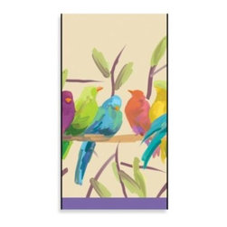 Creative Converting - Whisper-Flocked Birds Guest Towel (16-Pack) - These beautiful 3-ply guest towels are great for use in both the bathroom and general entertaining. Add a touch of elegance to your room or event.