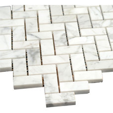 Transitional Mosaic Tile by All Marble Tiles