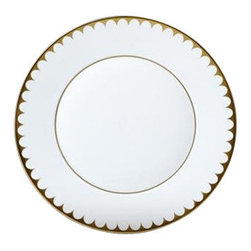 "L'Objet - L'Objet Aegean 24kt Gold Filet Dessert Plate - Our Aegean Collection inspired this traditional dinnerware with its timeless and delicate scalloped decal border. This sophisticated pattern is the ultimate layering accent. Limoges Porcelain3 Layers of Hand Applied 24K Gold Measures: 9."" Diameter L'Objet is best known for using ancient design techniques to createtimeless, yet decidedly modern serveware, dishes, home decor and gifts."