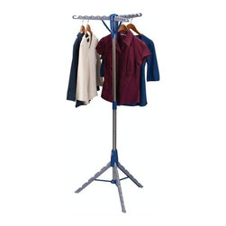 Home Decorators Collection - Tripod Air Dryer - This convenient piece will bring a new level of organization and efficiency to your laundry area. Whether for your delicates or simply to conserve energy, this tripod clothes dryer offers a stable base as well as a folding, collapsible design so you can keep it stored away to be brought out on laundry day. Order yours today. Crafted of durable materials for years of lasting use. Holds up to 36 garments.