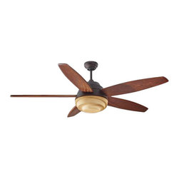 Montecarlo - Montecarlo Anglia Ceiling Fan in Roman Bronze - Montecarlo Anglia Model MC-5AGR56RBD in Roman Bronze with Hand Carved Dark Walnut Finished Blades. Single light fixure with Graduated Amber Glass included with Anglia fans.