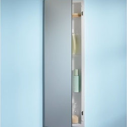 Broan-Nutone Pillar 12W x 36H in. Recessed Medicine Cabinet 735M34WH - Think you don't have room for a sharp, stylish recessed medicine cabinet? You do now! This ultra-thin Broan-Nutone Pillar Recessed Medicine Cabinet - 12W x 36H in. allows you to install a super cabinet in the narrowest of spaces. The reversible hinges mean this model could open either way, giving you a great-looking glass medicine cabinet even in what you previously thought was a tough spot to fill. Its Polystyrene plastic body is perfect for all the water in the air in most bath or powder rooms.About Broan-NuToneBroan-NuTone has been leading the industry since 1932 in producing innovative ventilation products and built-in convenience products, all backed by superior customer service. Today, they're headquartered in Hartford, Wisconsin, employing more than 3200 people in eight countries. They've become North America's largest producer of medicine cabinets, ironing centers, door chimes, and they're the industry leader for range hoods, bath and ventilation fans, and heater/fan/light combination units. They are proud that more than 80 percent of their products sold in the United States are designed and manufactured in the U.S., with U.S. and imported parts. Broan-NuTone is dedicated to providing revolutionary products to improve the indoor environment of your home, in ways that also help preserve the outdoor environment.
