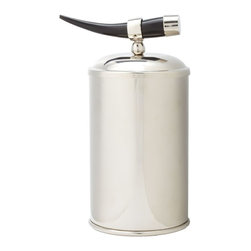Lazy Susan - Lazy Susan Ice Bucket with Horn Handle - Small X-420526 - Made from nickel-plated brass and horn