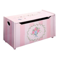 Teamson Design - Teamson Kids Bouquet Hand Painted Girl's Toy Chest/Box - Teamson Design - Toy Boxes and Chests - W3834G. This is a hand painted Bouquet themed Girl's toy chest. Now you can organize your child's toys with a beautifully themed toy chest!