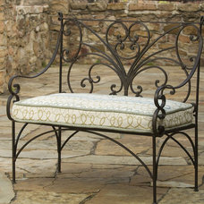 Traditional Outdoor Benches by accentsinthegarden.com